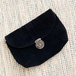 marc jacobs black brushed cotton clutch